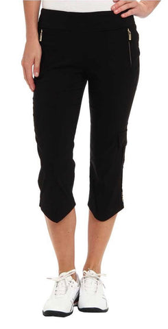 Ladies Jamie Saddock Skinnylicious Pedal Pusher Black