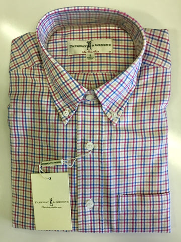 Mens Fairway & Greene Jacks Canyon Woven Longsleeve Shirt MSML - Golf Stitch