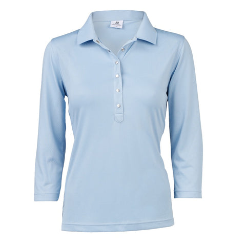 Ladies Daily Sports Mindy 3/4 Sleeve Polo Mermaid
