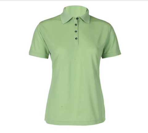 Ladies Calvin Klein Cotton Polo Lime