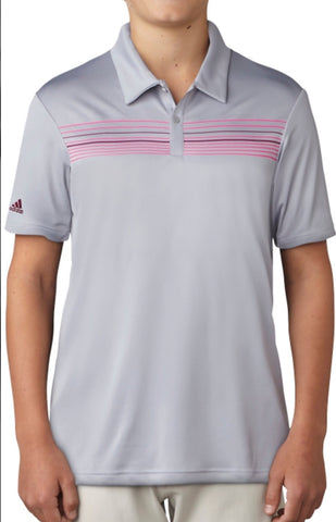 Junior Boys Adidas Climacool Polo Silver