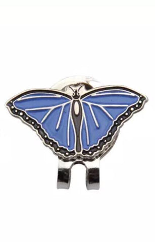 Crystal Ball Marker with Hat Clip Purple Butterfly