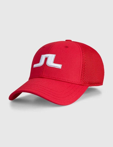 Mens J.Lindeberg Bon Flexi Twill Cap Red