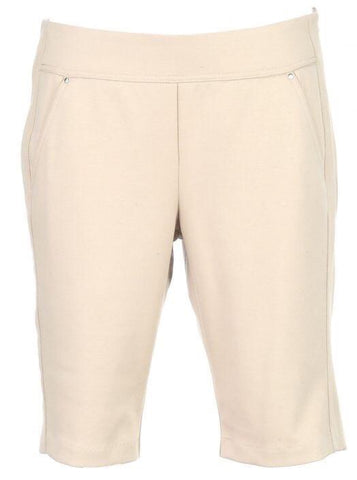 Ladies Greg Norman Ponte Shorts Stone