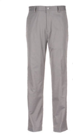 Mens Greg Norman Flat Front Pants Steel - Golf Stitch