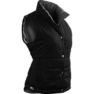 Ladies Sun Mountain Alpine Reversible Vest Black/Steel - Golf Stitch