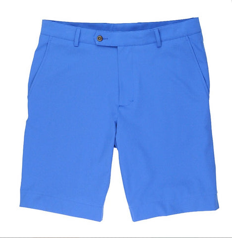Mens Fairway & Greene Larson Flat Front Tech Shorts Baltic - Golf Stitch