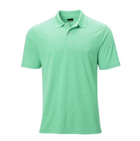 Mens Greg Norman PlayDry ProTek Micro Pique Polo Mint