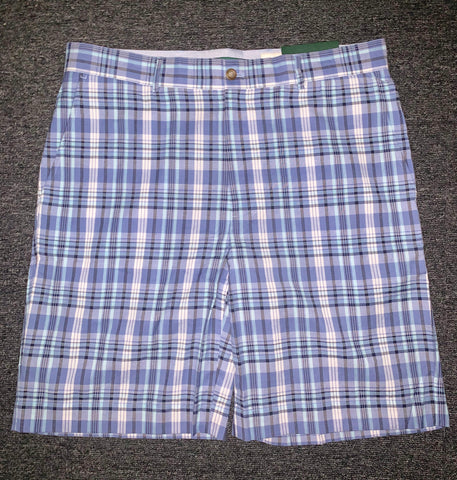 Mens Fairway & Greene Dunes Madras Plaid Shorts Blue Multi