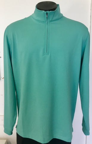 Mens Dwyers & Co  1/4 Zip Tech Top - Golf Stitch