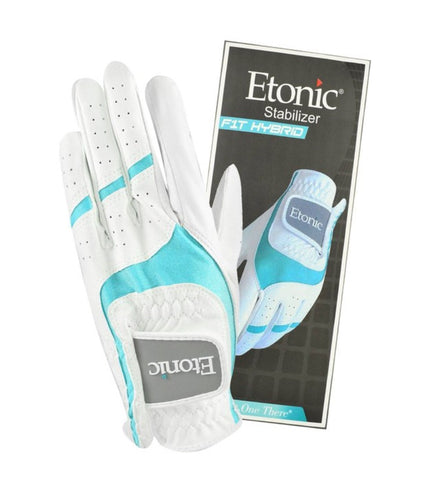 Ladies Etonic Stabilizer FIT Hybrid Glove White/Aqua 1 x Pair