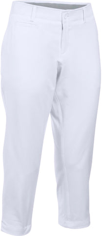 Ladies Cross Solid Classic Chino Capris White