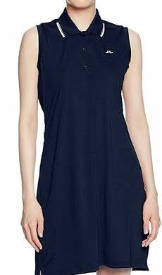 Ladies J.Lindeberg Reeta TX Jersey Dress Navy