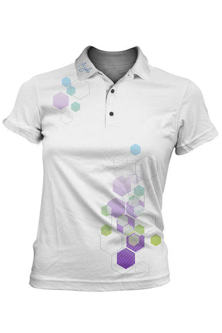 Ladies Fayde Cubis Polo White