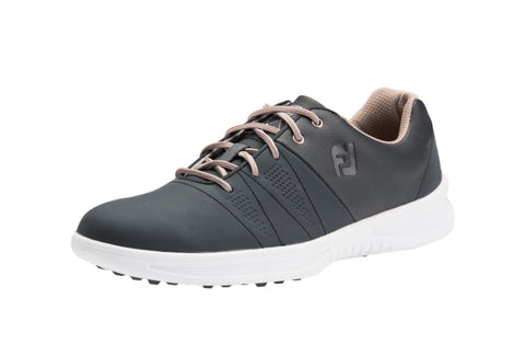 Mens Footjoy Contour Casual Golf Shoes Charcoal