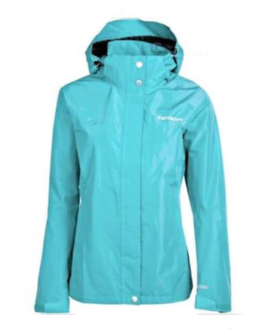 Ladies Tenson Monitor Waterproof Jacket Turquoise - Golf Stitch