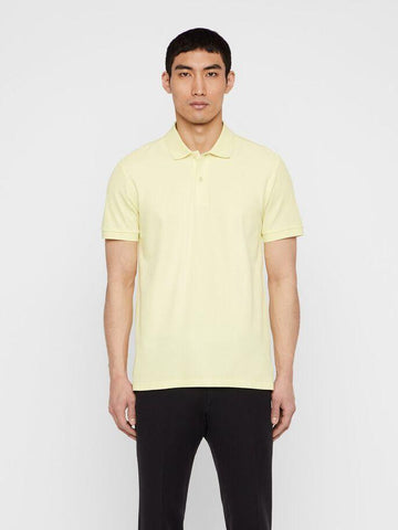 Mens J.Lindeberg Troy Clean Pique Polo Still Yellow