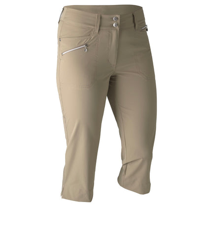 Ladies Daily Sports Miracle Capri Almond