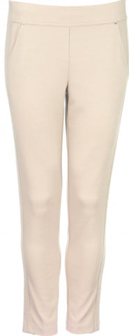 Ladies Greg Norman Ponte Ankle Pant Stone - Golf Stitch