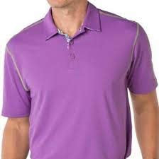 Mens IBKUL Solid Polo Lilac