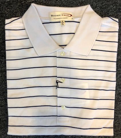 Mens Fairway & Greene Right Edge Pique Polo White