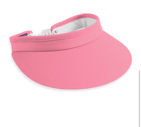 Ladies Town Talk Coiled Visor Coral - Golf Stitch