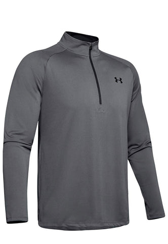 Mens Under Armour 1/4 Zip Tech 2.0 Sweater Charcoal