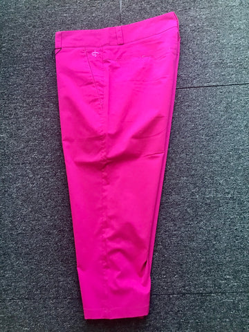 Ladies Cross Classic Chino Capris Carmine Pink