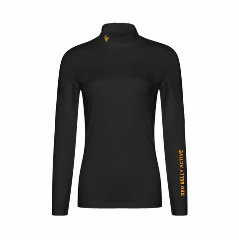 Ladies Red Belly Base Layer Black