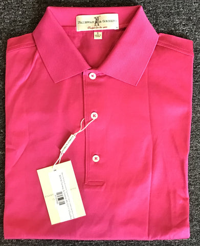 Mens Fairway & Greene Signiture Classic Solid Lisle Polo Fucshia
