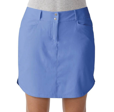 Ladies Adidas 3 Stripes Skort Baja Blue