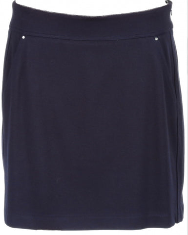 Ladies Greg Norman  Ponte Skort Navy - Golf Stitch
