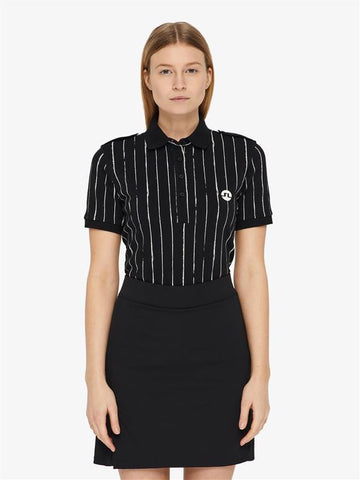 Ladies J.Lindeberg Birdee Pique Polo Black