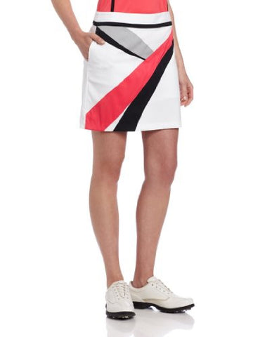 Ladies Greg Norman Printed Skort White/Black/Red