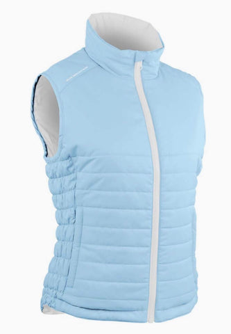 Ladies Sun Mountain Alpine Reversible Vest Glacier/White