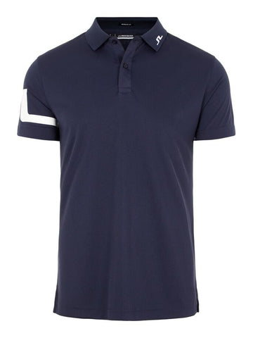 Mens J.Lindeberg Peter GGC Tech Jersey Polo Navy