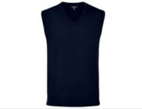 Ladies Sporte Leisure Wool Vest Black - Golf Stitch