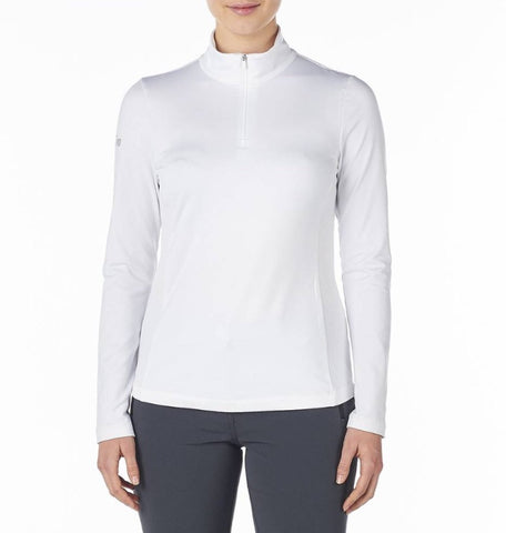 Ladies Nivo Kelly Mock Longsleeve Top White
