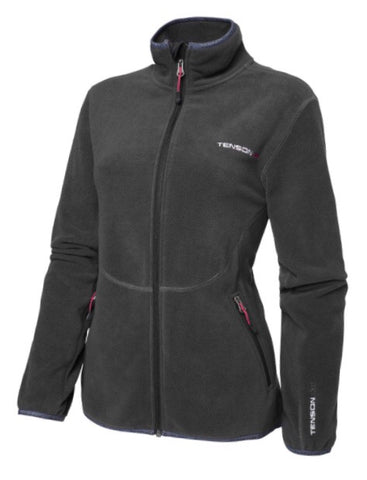 Ladies Tenson Marilyn Full Zip Fleece Black - Golf Stitch