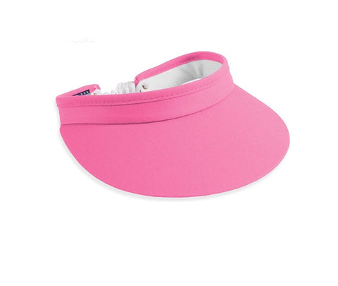 Ladies Town Talk Coiled Visor Pink - Golf Stitch