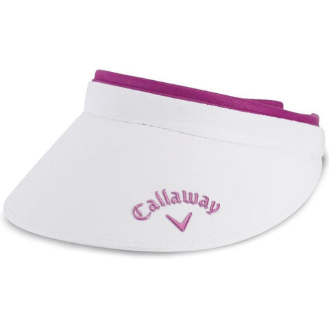 Ladies Callaway Clip Visor White/Purple