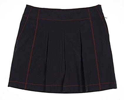 Ladies Cutter & Buck Contrast Stitch Skort Charcoal/Orange
