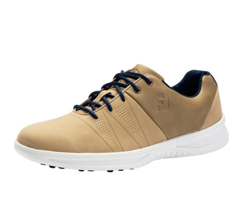 Mens Footjoy Contour Casual Golf Shoes Tan