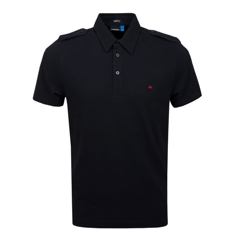 Mens J.Lindeberg Cliff  Pique Polo Black