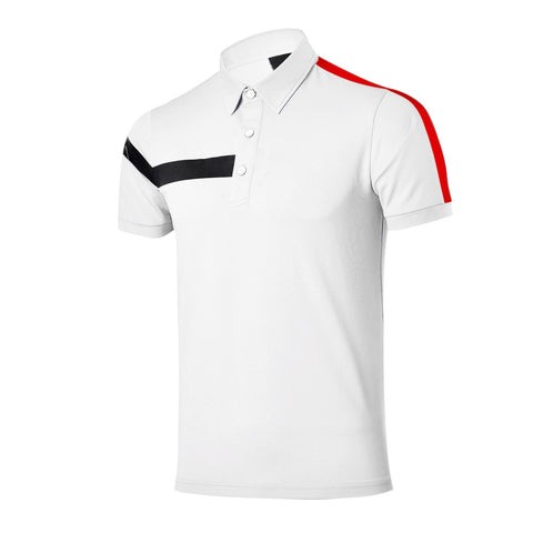 Mens Red Belly Tour Jersey Polo White