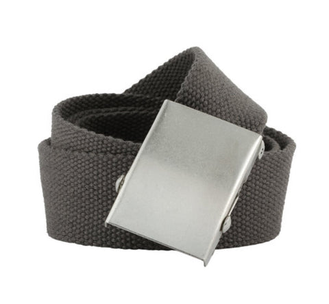 Ladies Chloe Lee Webbing Belt Charcoal