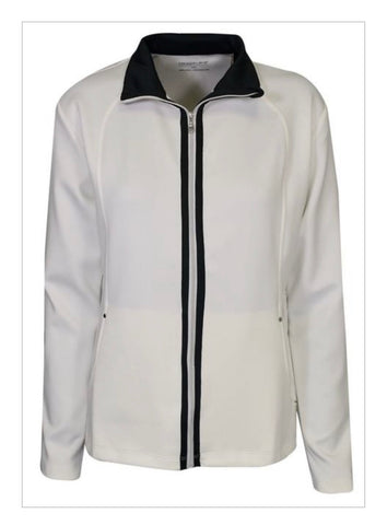 Ladies Maggie Lane Full Zip Jacket White