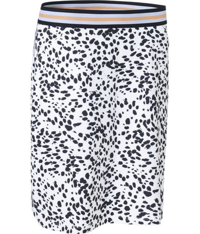 Ladies Abacus Anne Print Skort White/Navy