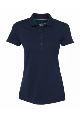 Ladies Tommy Hilfiger Cotton Pique Polo Navy