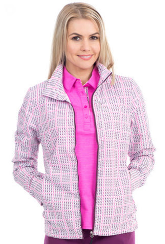 Ladies Nivo Kylie Lightweight Jacket Pink/White